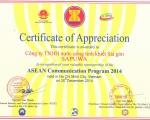 SAPUWA PROUDLY SPONSORED FOR ASEAN COMMUNICATION PROGRAM 2014