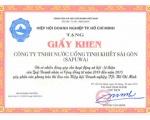 SAPUWA vinh dự đón nhận Giấy khen của Cục thuế TP. HCM