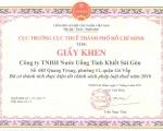 SAPUWA vinh dự đón nhận Giấy khen của Cục trưởng cục thuế TP. HCM