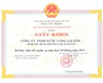 SAPUWA honorly received a certificate from Go Vap District's People's Committee