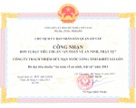 """SAPUWA honorly awarded """"Safety of Order and Security"""" year of 2013"""