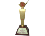 """SAPUWA received Gold Cup certificate """"Topten golden product during WTO Integrate year of 2014"""""""