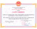 Sapuwa vinh dự nhận giấy khen của UBND Q. GV