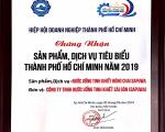SAPUWA ĐẠT CHỨNG NHẬN SẢN PHẨM, DỊCH VỤ TIÊU BIỂU TP HCM NĂM 2019