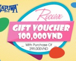 RECEIVE GIFT VOUCHER 100,000VND WITH PURCHASE OF 299,000VND