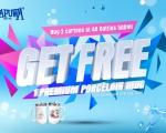 GET FREE 1 PREMIUM PORCELAIN MUG WHEN  BUY 2 CARTONS OF 48 BOTTLES 500ML