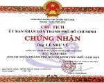 Ông Lê Như Vũ và Công ty SAPUWA vinh dự đón nhận giải thưởng Doanh nhân, Doanh nghiệp TPHCM tiêu biểu năm 2018
