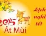 Thông báo lịch nghỉ Tết Nguyên Đán Ất Mùi 2015