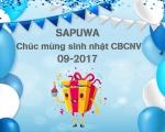 CHÚC MỪNG SINH NHẬT CB-CNV SAPUWA THÁNG 09/2017