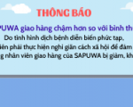 SAPUWA GIAO HÀNG CHẬM HƠN SO VỚI BÌNH THƯỜNG