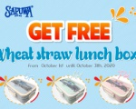 GET FREE 1 WHEAT STRAW LUNCH BOX  WHEN BUY 2 CARTONS OF 48 BOTTLES 330ML