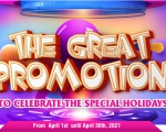 THE GREAT PROMOTION TO CELEBRATE THE SPECIAL HOLIDAYS